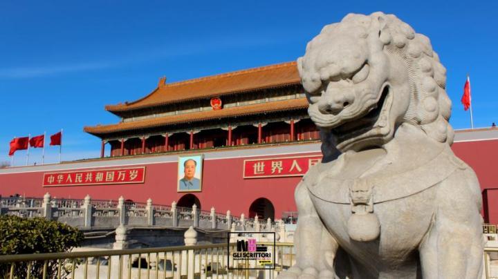 leone cinese tiananmen